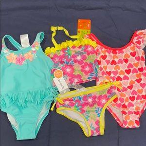 3 Bathing suits 2T